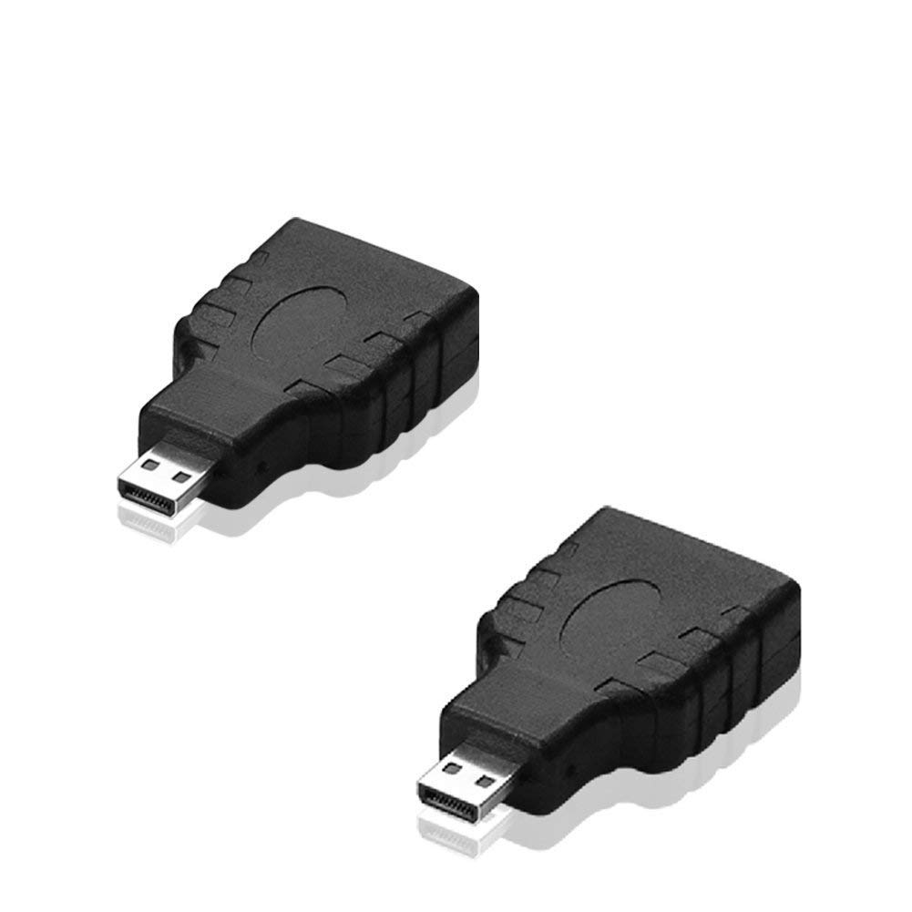 SIENOC Micro HDMI to HDMI Adapter Type D Male to Female Type A Converter 3D 1080p (2 packs Micro hdmi to hdmi)