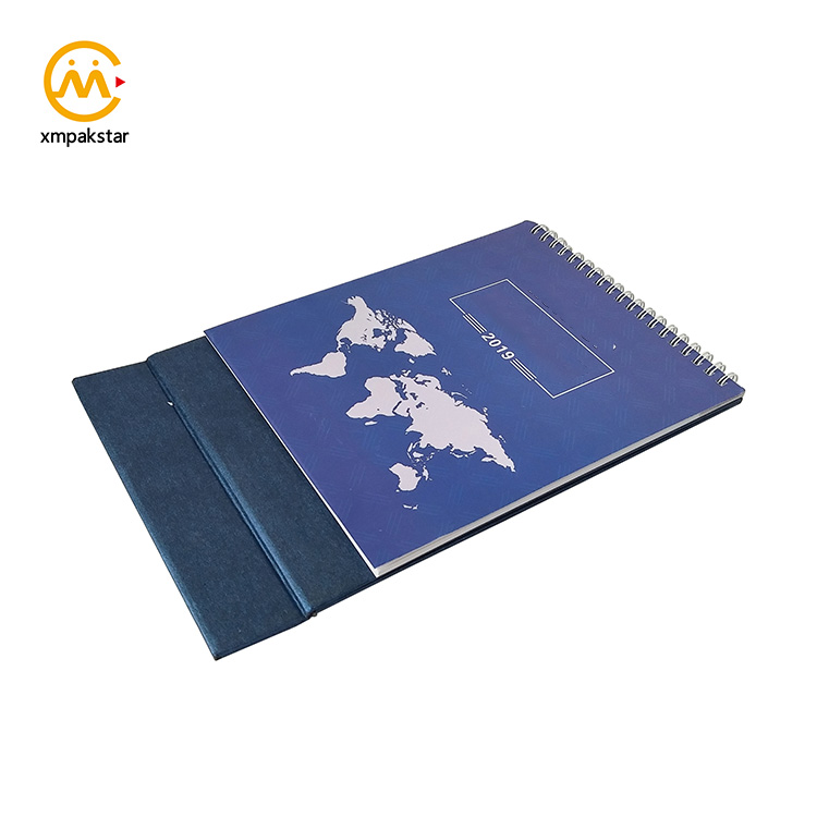 Wholesale personalized office standing planner folding desk calendar printing