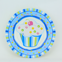 Wholesale Stock 2016 New Arrivals Birthday Party Cake Cup Paper Plate