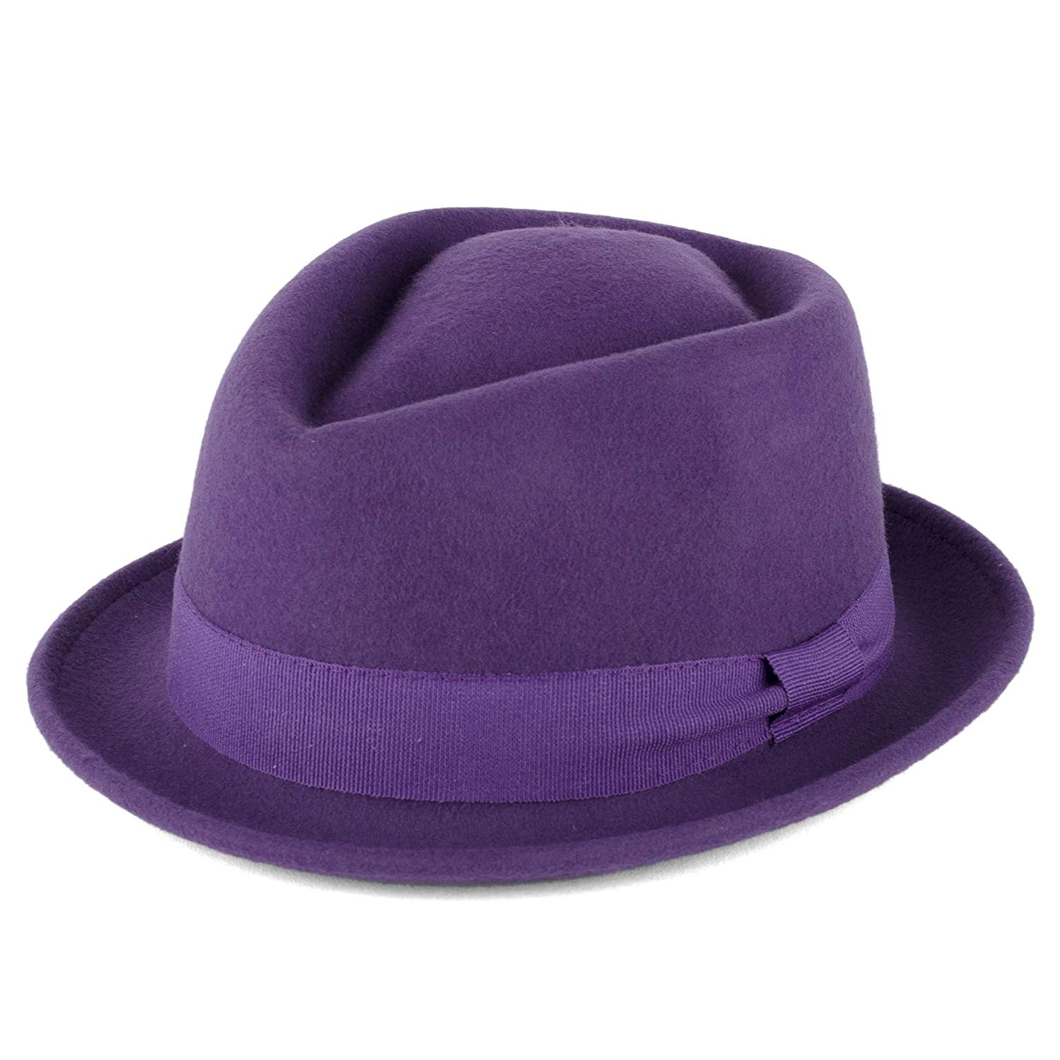 Get Quotations · Wool Diamond Shaped Pork Pie Hat with Grosgrain Band  Handmade in Italy 6ceb4e63ee80