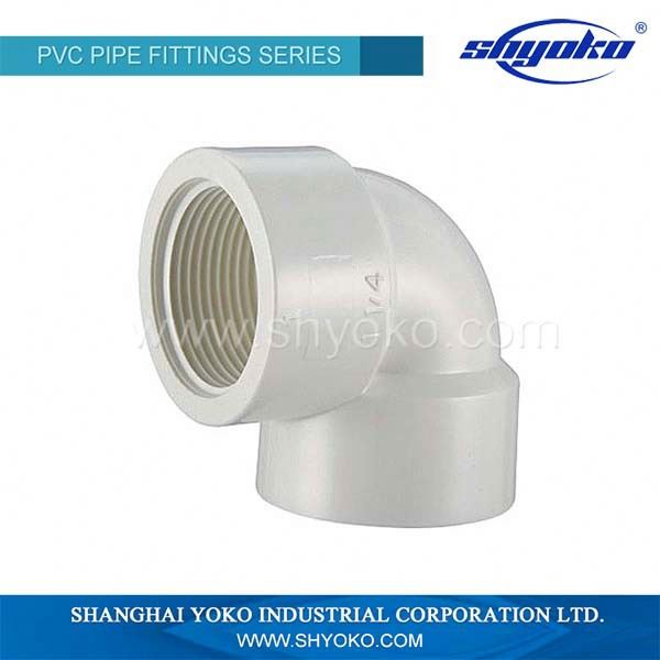 BSPT 90 Degree PVC Pipe Elbow Swivel Elbow