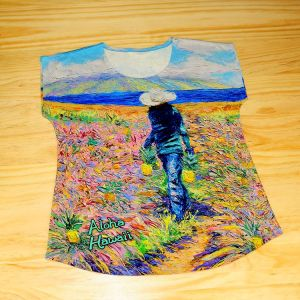 Reactive digital printing women cotton custom t shirt