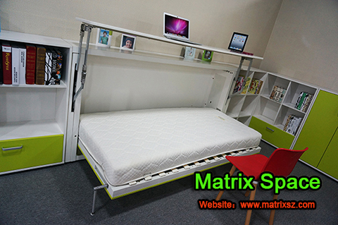Newest design murphy bed bed with bookshelf hidden bed desk buy modern murphy bed double bed - Ontwerp bed hoofden ...