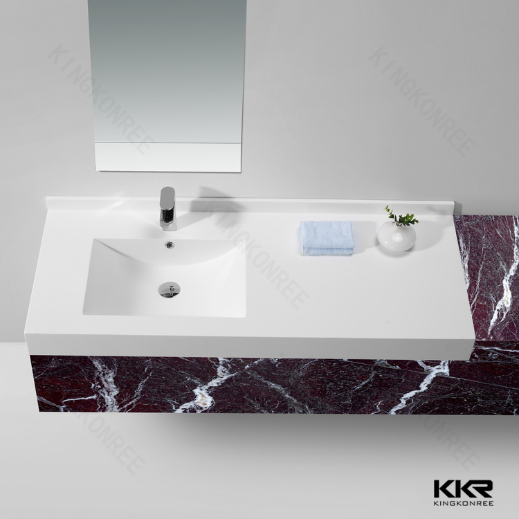 Bathroom Sinks With Two Faucets,Kingkonree Acrylic Solid Surface ...