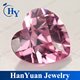 Fancy heart cut synthetic diamond rough for decoration
