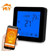 white/black color accurate celsius thermometer with smart wifi thermostat control underfloor heating cable/mat/foil/film