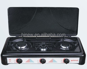 3 burner Itimat stainless steel gas cooker with cover MST-3003