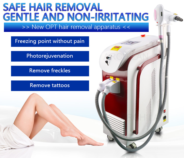 Nd yag tattoo removal laser diode painless hair removal machine