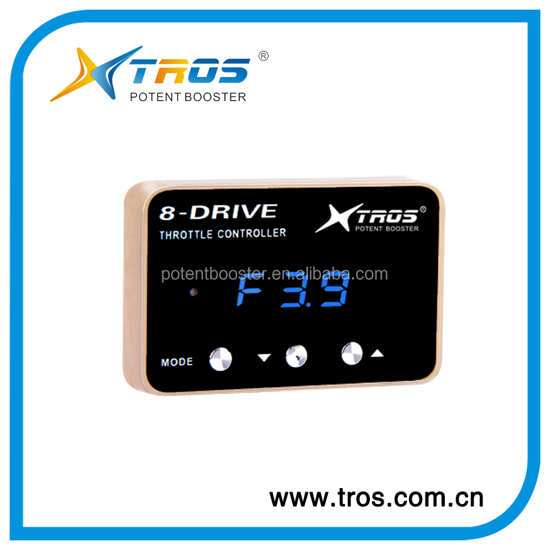 TROS 8 DRIVE manual electric booster control tuning box throttle controller for Mazda 25cc BT 50,Hilux Corollar,VW t1,t2,t3,t4,