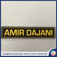 Name Patch High Quality Custom 3D puff PVC Patches Hook Backing for