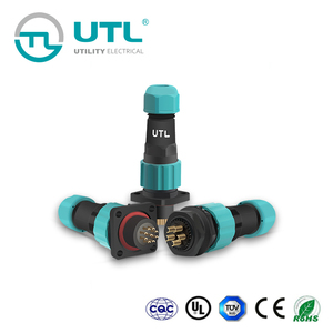UTL Electrical Waterproof Threaded Coupling Circular Cable Aviation Connector