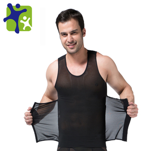 Powerful Mens Body Shaper 300g High Powernet Vest 358 BK Plus Size Waist Training Corset Men Slim Fit Suits