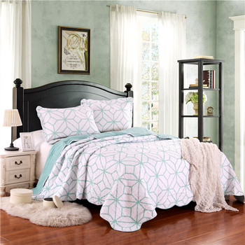 Geometric Print Quilt Bedspreads 100 Cotton Quilt King Size Buy