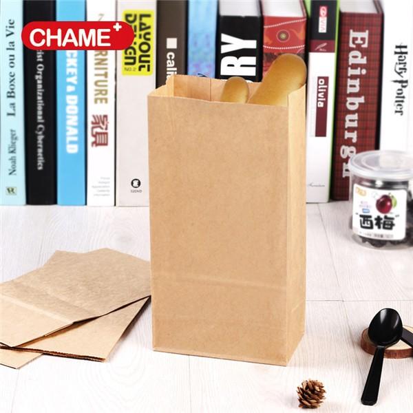 Take Away Low Price Bread/gift Kraft Paper Bags With Logo