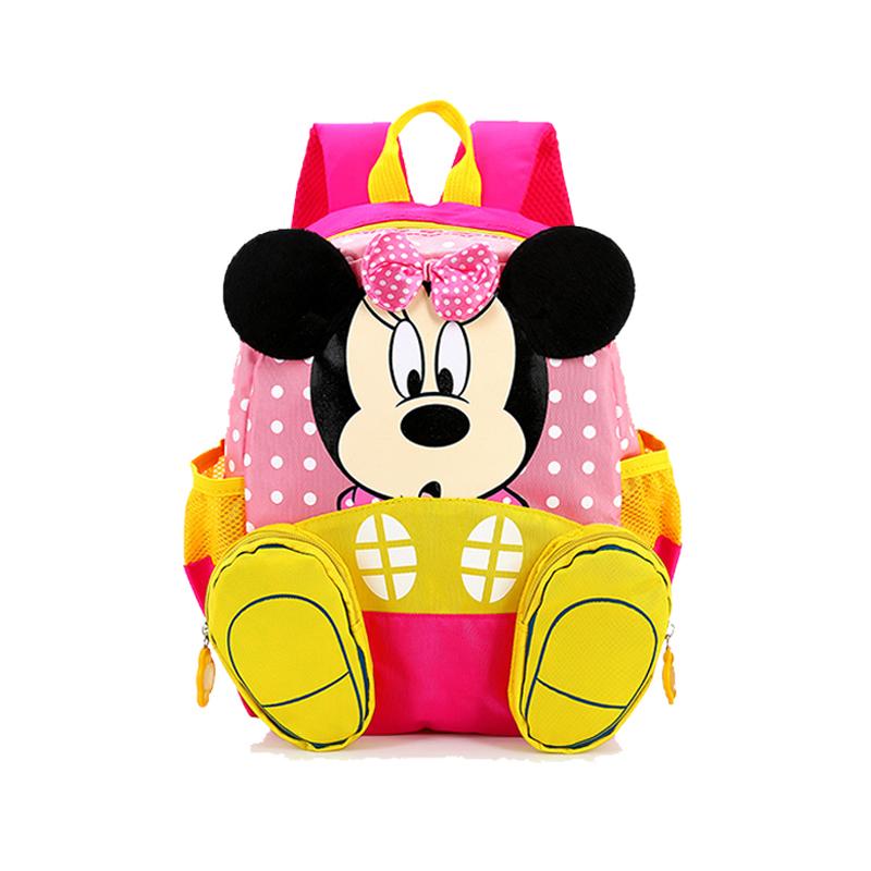 732a0f6597d Get Quotations · 2015Kindergarten children Mickey dimensional cartoon  backpack school bags children backpacks kids fanny packs minecraft backpack