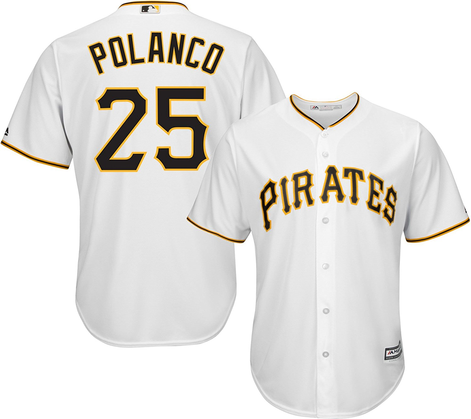Gregory Polanco Pittsburgh Pirates White Youth Cool Base Home Replica Jersey