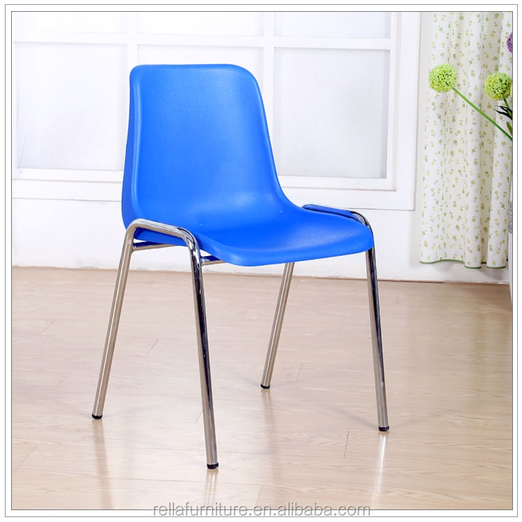 china stackable plastic chair with metal legs in dining