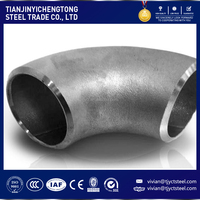 Carbon steel 60 degree / 135 degree / straight elbow pipe fittings for pressure vessel