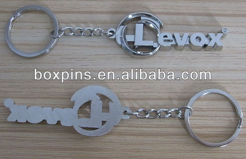 3D metal alphabet die cast zinc alloy keychain (Box-Joe-metal keychain-13061509)