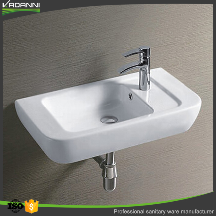 New design ceramic wall hung art wash basin model for home and hotel