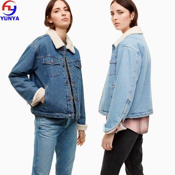 Yunya Fashion 2017 New Winter Wholesale Jean Jacket Women