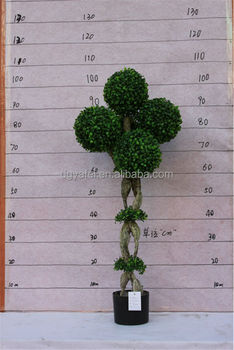 factory artificial shaped boxwood topiary spiral trees/balls for Fake Topiary Trees
