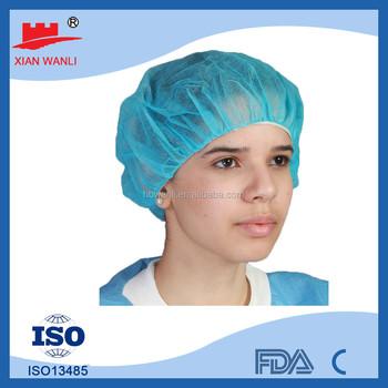 Disposable Women Pp sms Plastic Colorful Bouffant Caps Head - Buy ... 5d007375d06