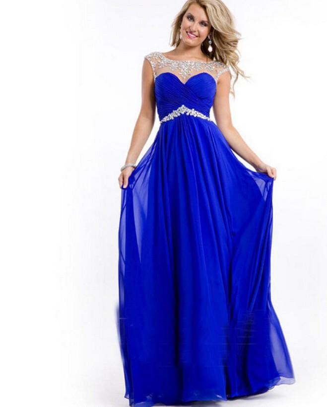 Vestidos Largos Azul Rey