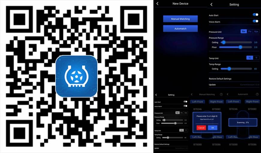 Bluetooth TPMS cho Android và IOS Điện Thoại Thông Minh Hệ Thống