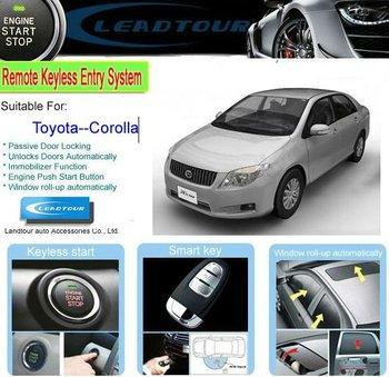 Fm Car Alarm System Remote Starter With Rfid Keyless Entry Push ...