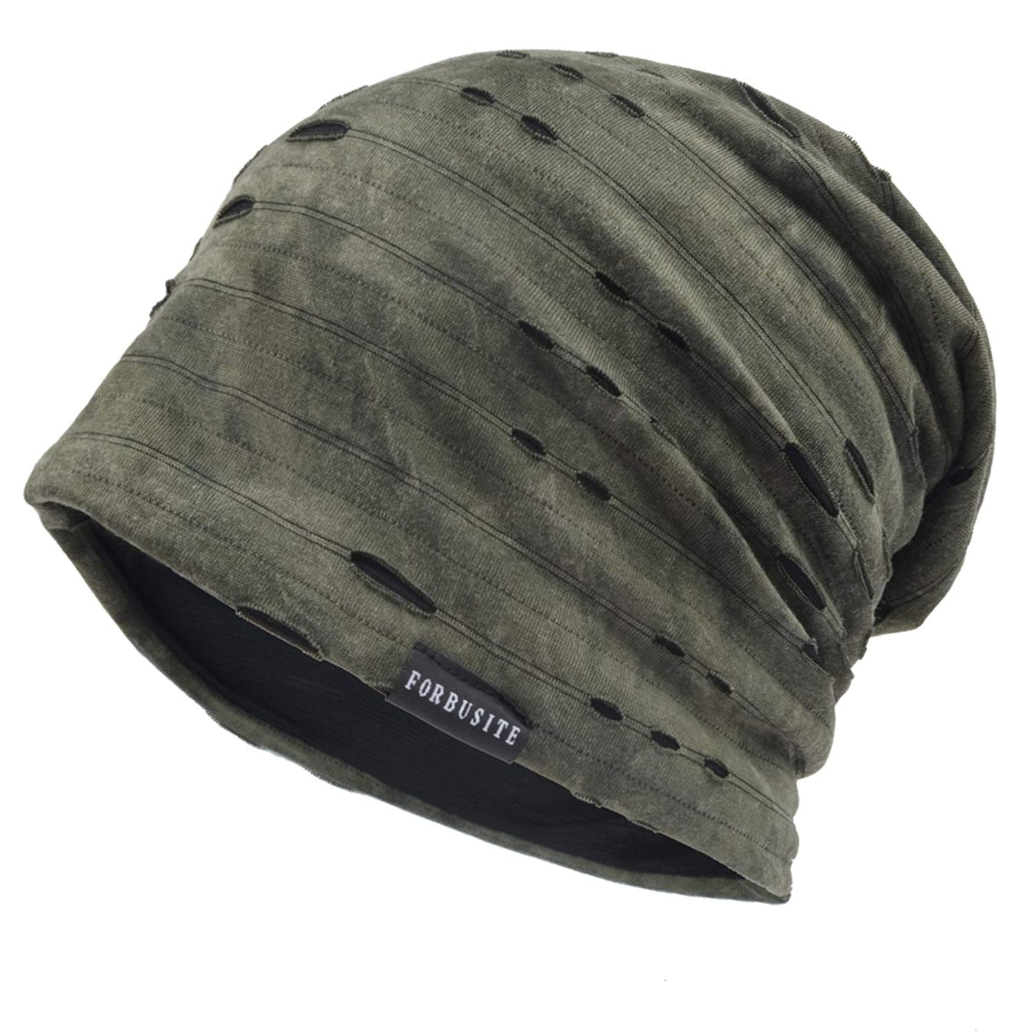 cc097400c18 Get Quotations · Ruphedy Mens Retro Baggy Skull Cap Slouch Beanie Summer  Winter Hats B090