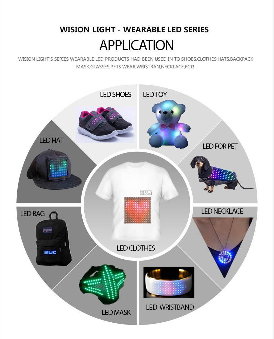 ルミナリーライトアッププログラマブル Led ディスプレイスマートバッグ