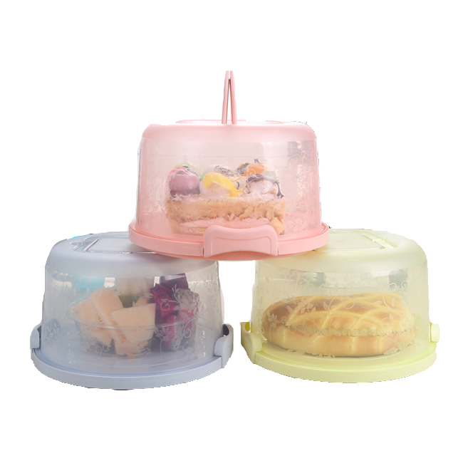 Wholesale Plastic Cake Carrier ,Dessert Cake Holder Container For Food Storage Box