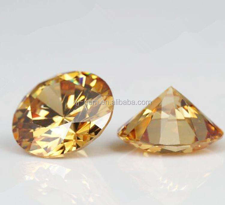 Wholesale Machine Cut Round Shape Cubic Zirconia Crystal Gems Stones