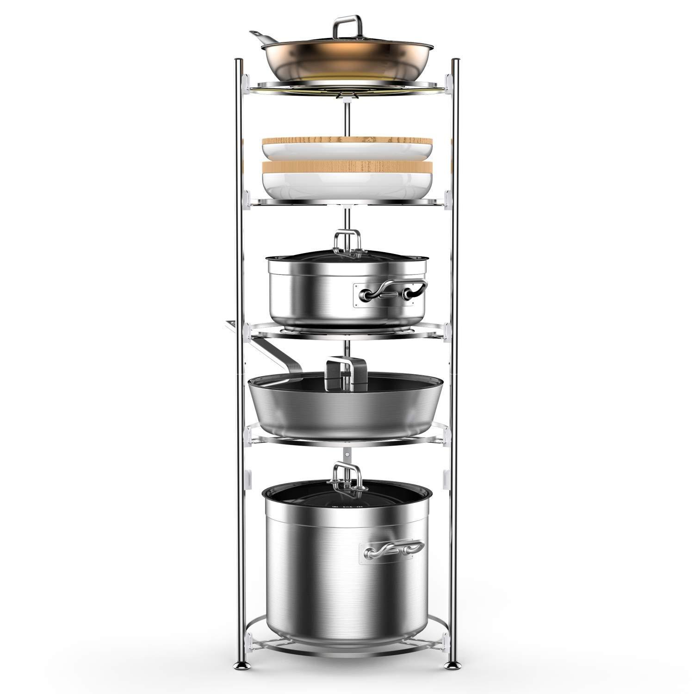 Buy Lifinity Pot and Pan Organizer, 5-Tier Heavy Duty Pot ...