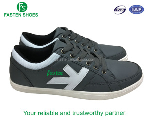 Fresh design sneaker shoes for men faux leather upper good price