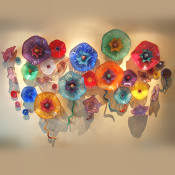 Wall Hanging Decorative Hand N Art Multi Colors Large Gl Flowers Decor Plate Plates Modern
