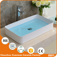 Sanitary ware porcelain sinks white western style bathroom art basins