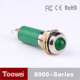 Toowei Waterproof Green 24 volt ac led indicator light 2.4V/12v Matel Case 6mm Indicator Lamp Red/Green/Yellow/Blue/White