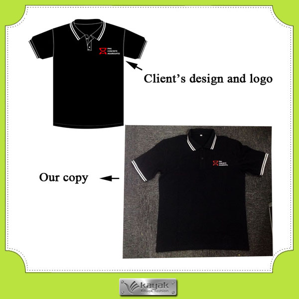 Custom polo collar sport t shirts with embroidery design for Design my own polo shirt