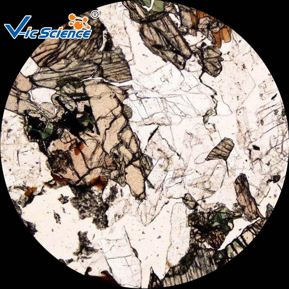 Professional mineral thin section slide set/geologic thin section
