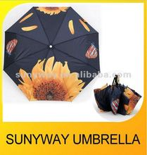 Automatic Free Arm Sunflower Design Umbrella