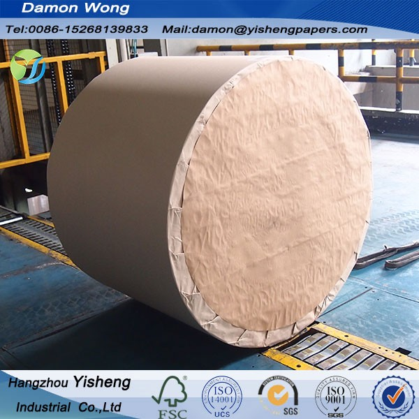 Nine Dragon White Top Liner Clay Coated Cardboard Duplex Grey Back Board/ 300g Paper Board Stocklot