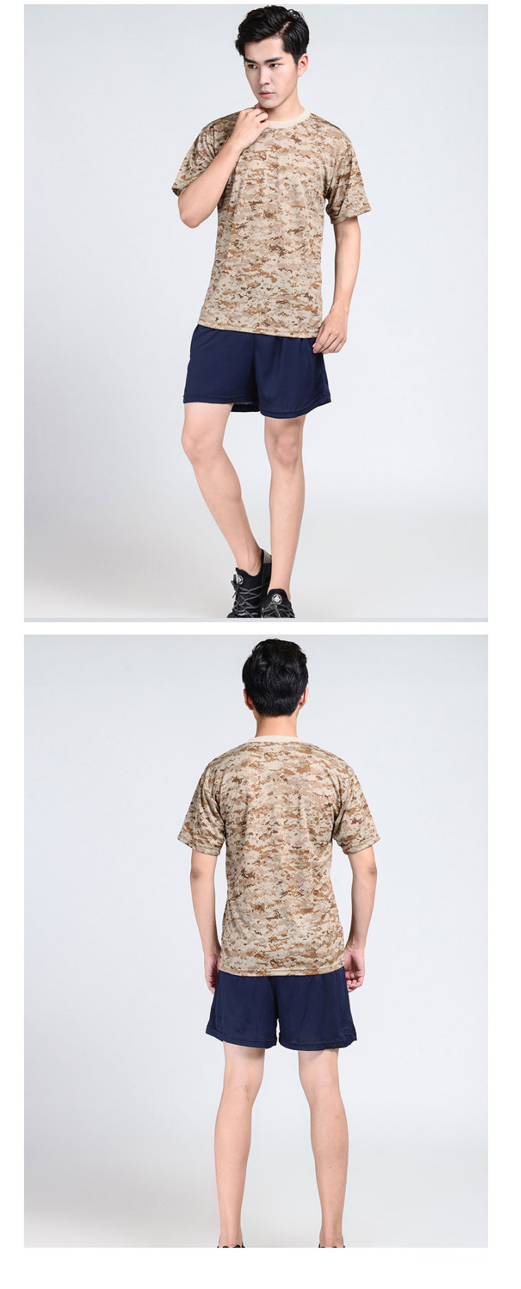 Wholesale Military Camouflage T-Shirts Combat Tactical Army Desert Digital Camo T Shirt Mens in the stock