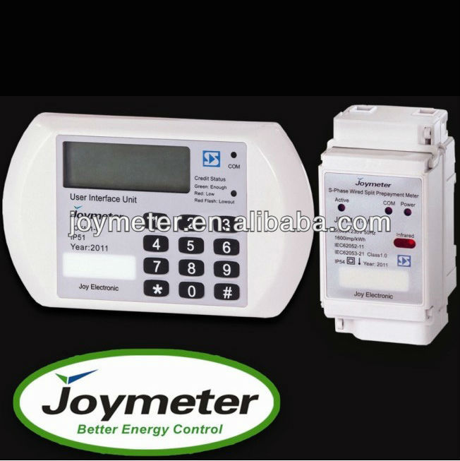 JOYMETER Brand Single Phase Prepayment Energy Power Watt Hour Kwh Electricity Meter
