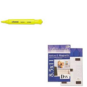 KITDAXN140285MUNV08861 - Value Kit - DAX MANUFACTURING INC. Velcro Magnetic Cubicle Photo Document Frame (DAXN140285M) and Universal Desk Highlighter (UNV08861)