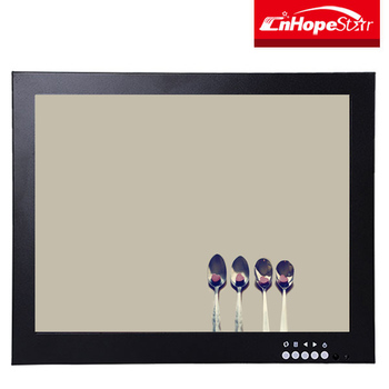 Dc12 Volt Metal Case 4:3 12.1 Inch Lcd B&w Cctv Monitor