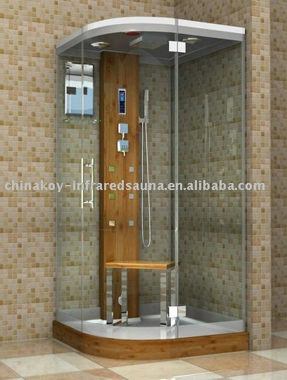1 Person Corner Bamboo Steam Cabin And Shower - Buy Steam Cabin And ...
