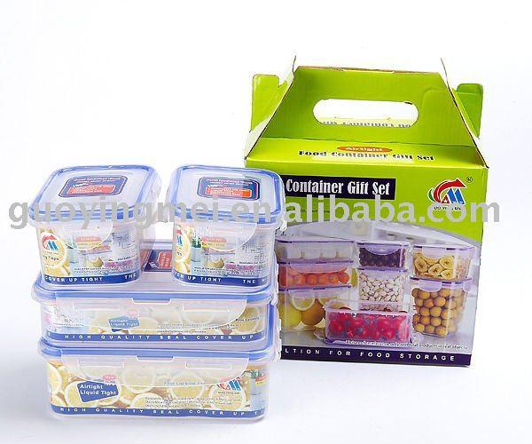 Airtight Food Storage Containers Set Of 4,Lock Rectangular Plastic  Conrainer - Buy Kitchen Container Sets,Food Storage Microwave Set,Plastic  Food Lock ...