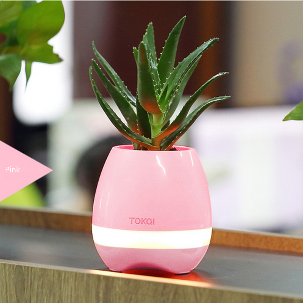New Luxury Portable Mini Smart Bluetooth Speaker Music Flower Pots for Home Office Decoration for iPhone 7 plus Galaxy S8 Plus